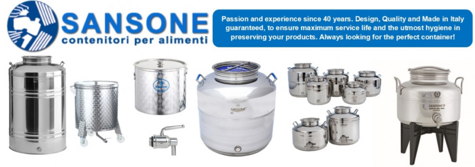 Sansone Stainless Steel Fusti Containers