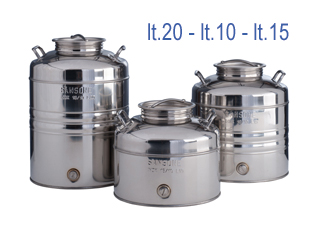 Stainless Steel Oil Containers