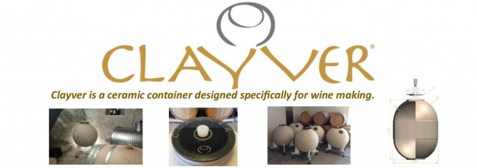 """Clayver """"Egg Shape"""" Wine Containers"""